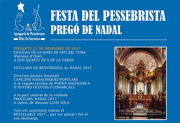 Cartell Festa del Pessebrista a Olot 2017